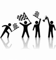 checkered flag symbol vector image