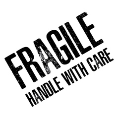 Fragile with Handle with care isolated on white vector image vector image