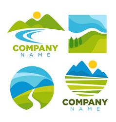 green nature landscape templates for company vector image vector image