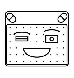 happy emoticon vector image vector image