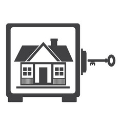house in safe house protection vector image