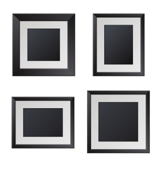 Realistic Black Picture Frames with Blank Center vector image vector image