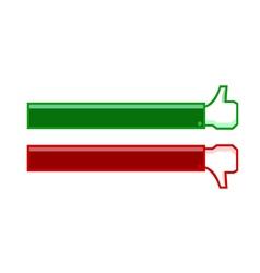 thumb up and thumb down banner vector image vector image