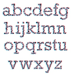 3D Colorblind Font vector image