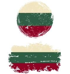 Bulgarian round and square grunge flags vector image vector image
