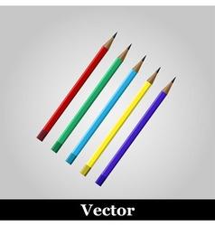 pencil icon on grey background vector image