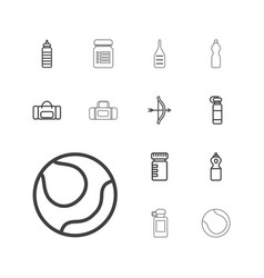13 sports icons vector image