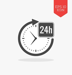 24 hours a day icon open around the clock concept vector image