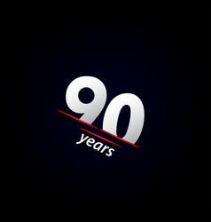 90 years anniversary celebration black and white vector