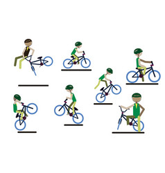 A set of characters engaged in active sport vector