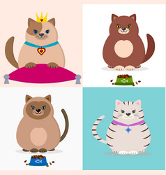 a set of with cats vector image