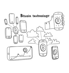 Abstract bitcoin technology vector