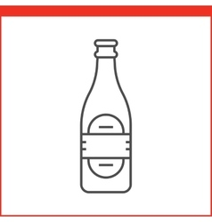 Alcohol bottle icon vector image