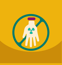 an isolated reuse icon with a nuclear power on vector image