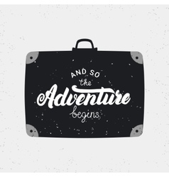 and so adventure begins card vector image