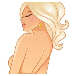 Beautiful blond woman vector image