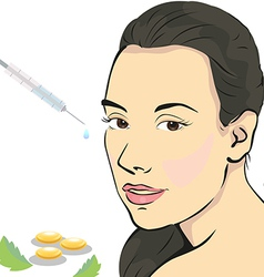 Beauty botox vector