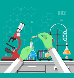 biology science education equipment vector image