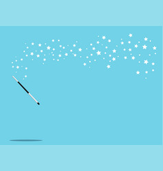 Black and silver magic wand background vector