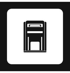 Black inbox icon simple style vector