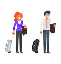 Business trip characters vector