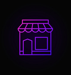 cafe building colored icon in thin line vector image