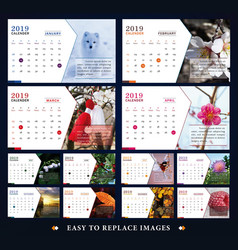 calendar for 2019 year vector image