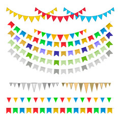 Carnival garlands with pennants vector