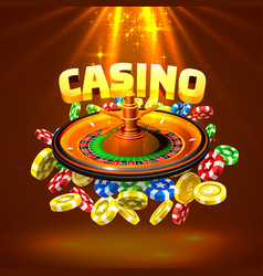 casino roulette big win vector image