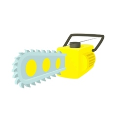 Chainsaw icon in cartoon style vector