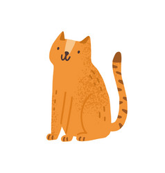 childish cute cat in simple scandinavian style vector image