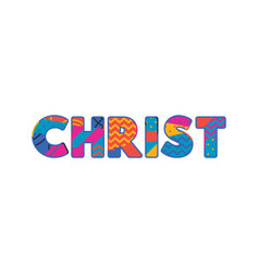 Christ concept word art vector