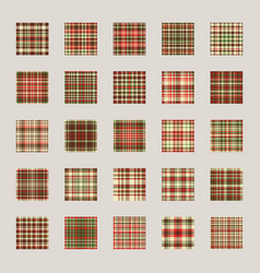 christmas pattern seamless check plaid fabric vector image
