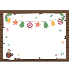 Christmas sign vector image