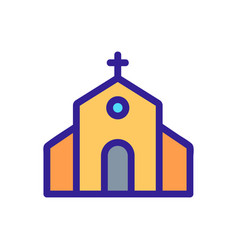 Church icon isolated contour symbol vector