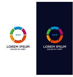 Colorful chat app logo design vector
