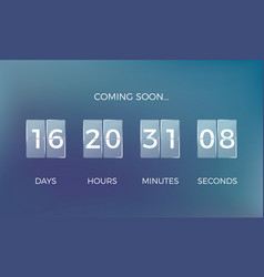 Countdown clock coming soon time remaining count vector