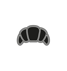 croissant breakfast icon - pastry symbol isolated vector image
