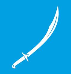cutlass icon white vector image