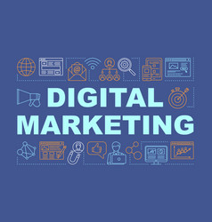 Digital marketing word concepts banner ads vector