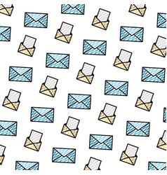 Doodle e-mail communication document message vector