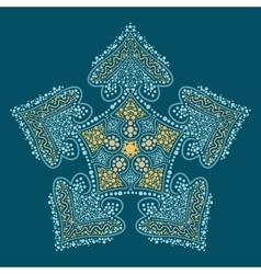 Doodle oriental mandala vector image