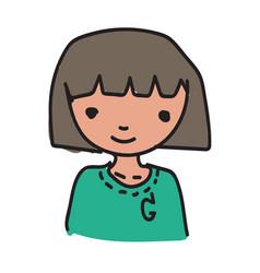 draw woman cartoon vector image