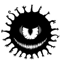 Evil eye monster stencil vector