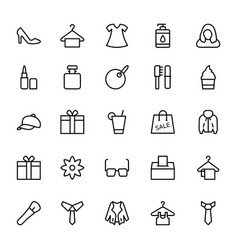 Fashion line icons 1 vector