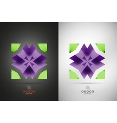 Geometric abstract shape - business symbol vector image