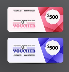 Gift voucher template Coupon design vector