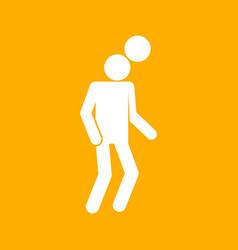 Heading football soccer sport figure symbol vector