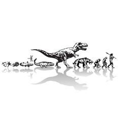 history life on earth timeline evolution vector image