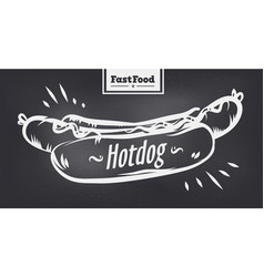 Hotdog poster with cool design vector